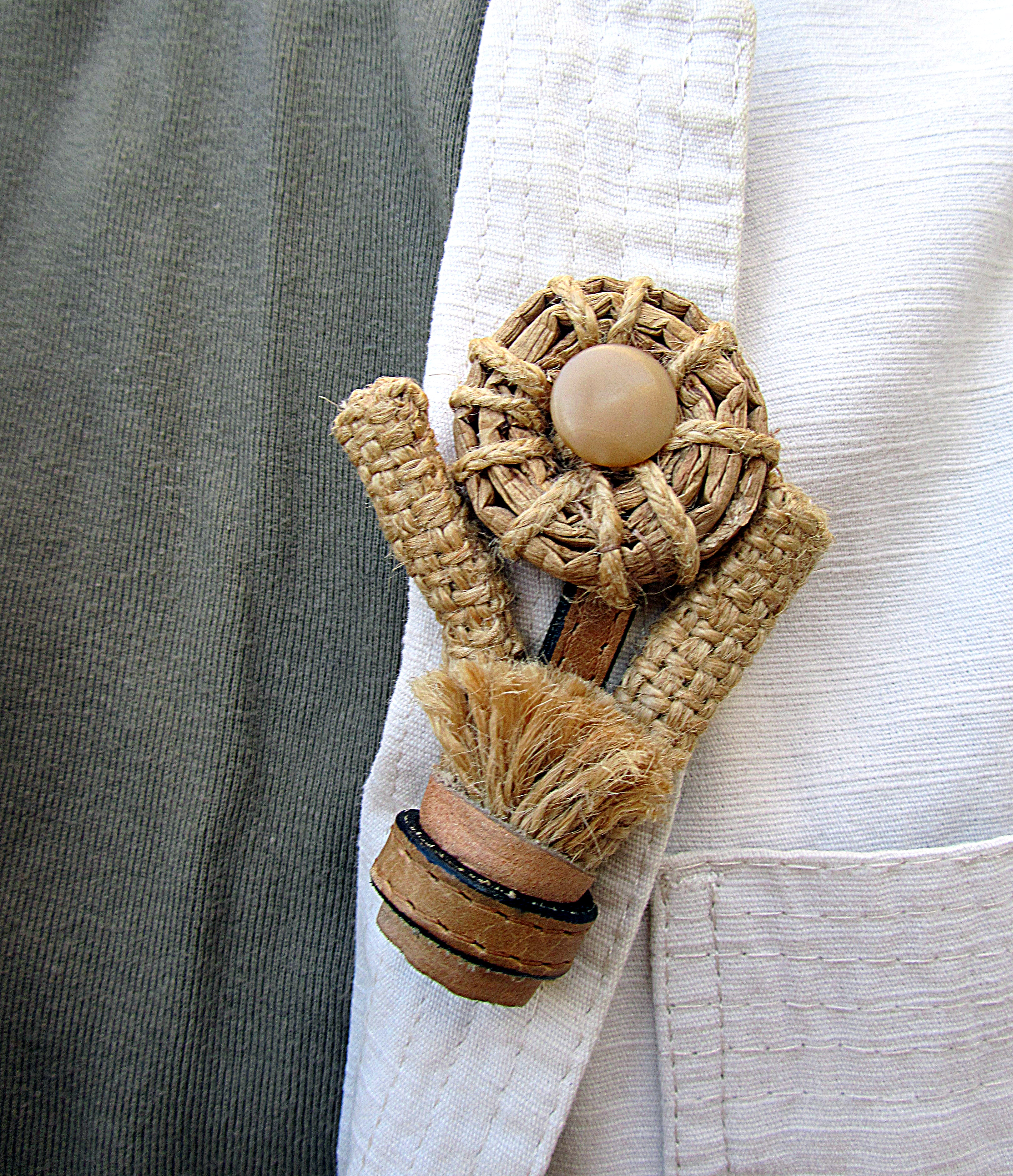 Brooch in eco-style