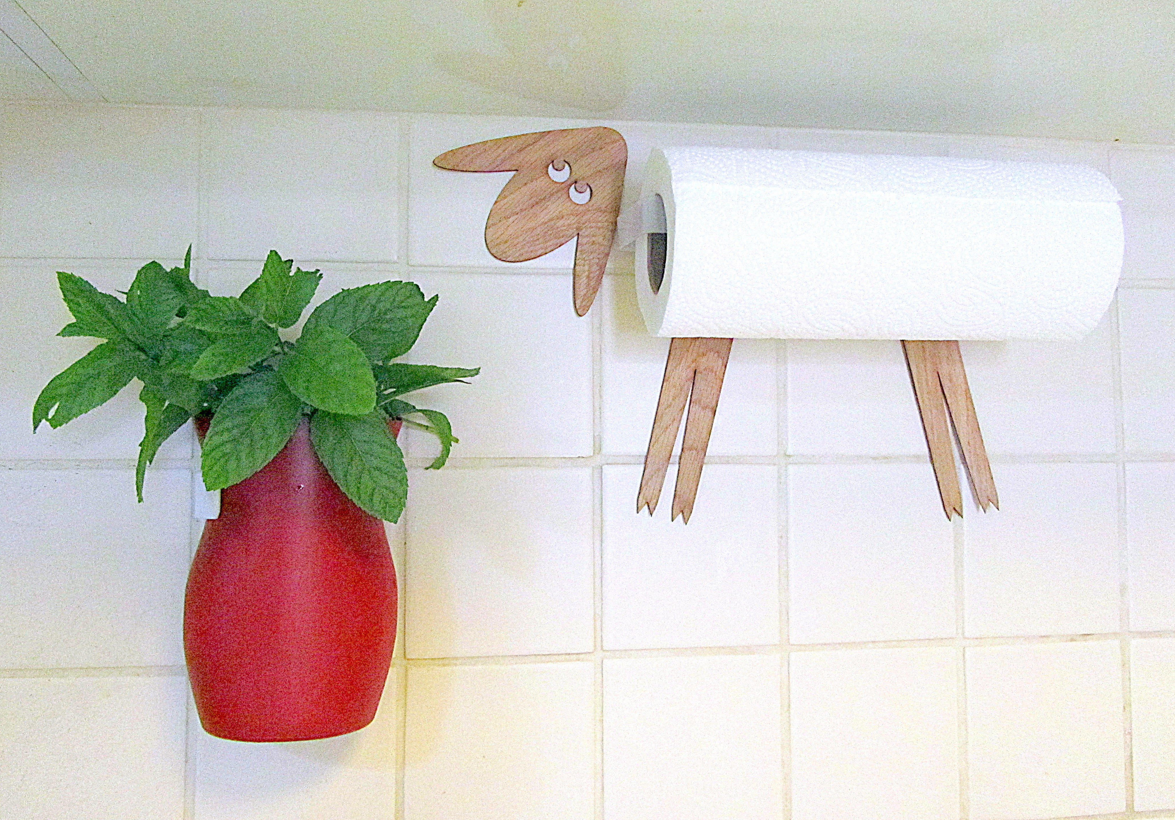 Removable wall jug for herbs.