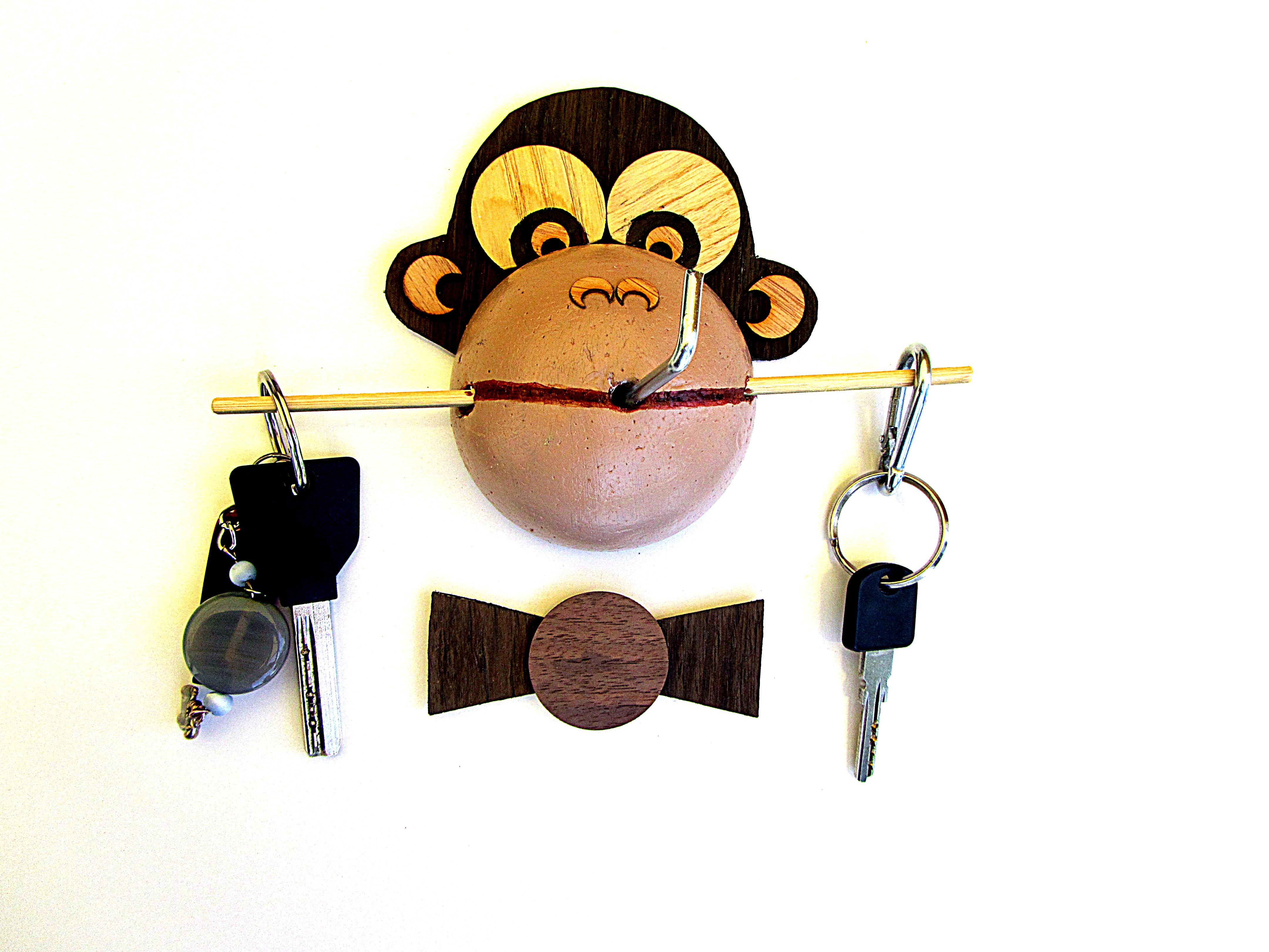 Hanger-Monkey -Funny handmade gift.