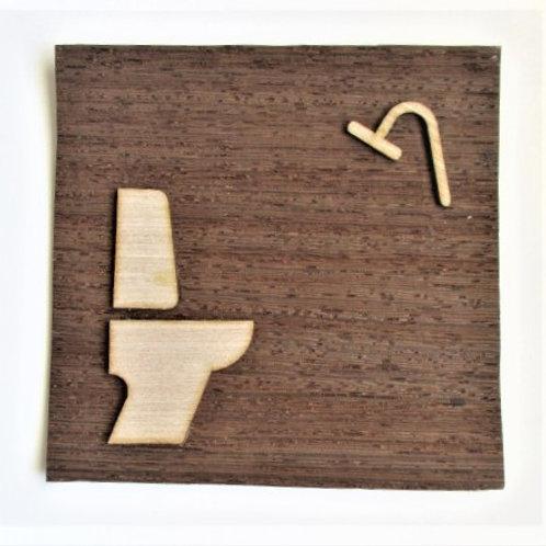 Sticker for restroom door and shower