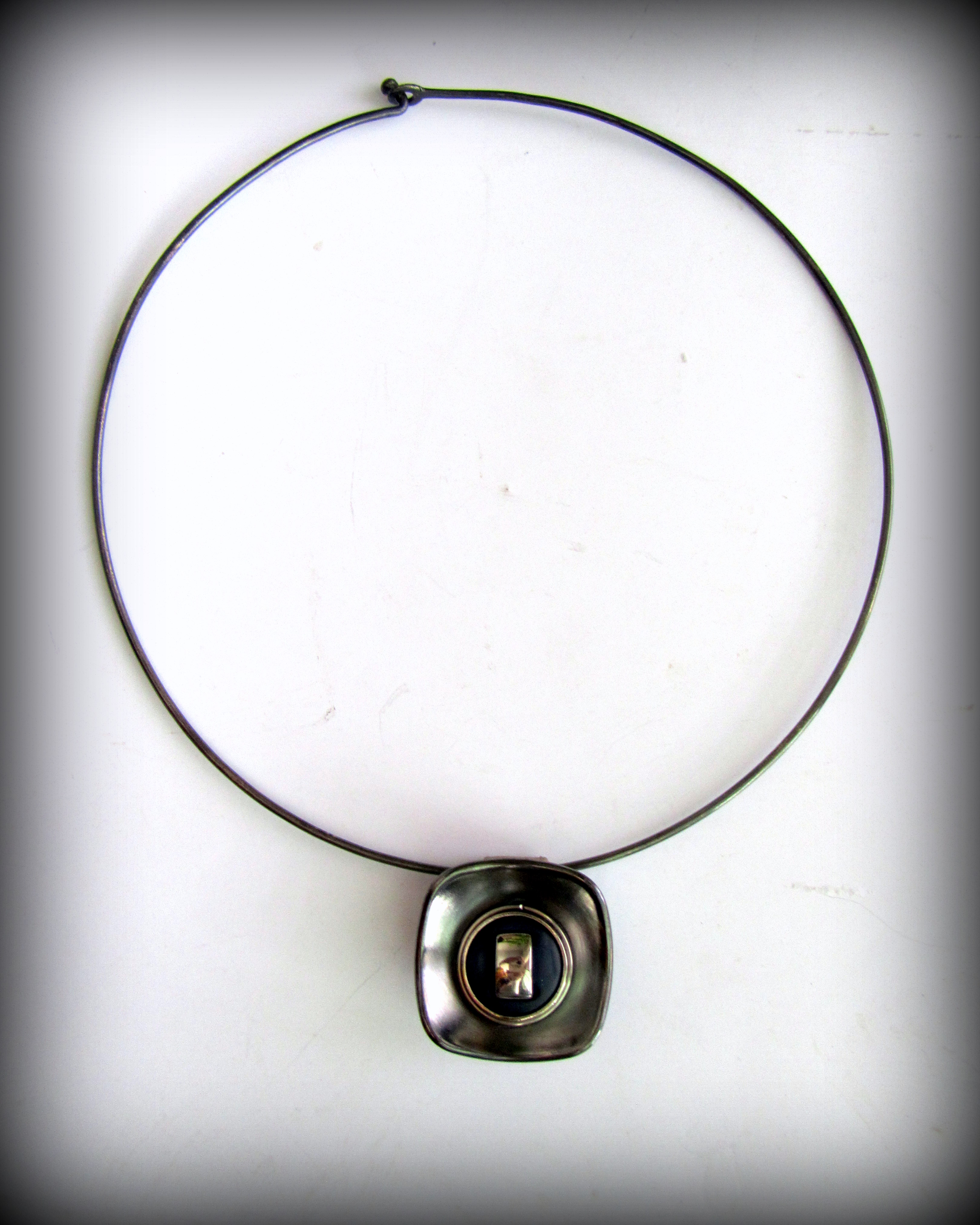 Necklace in minimalist style