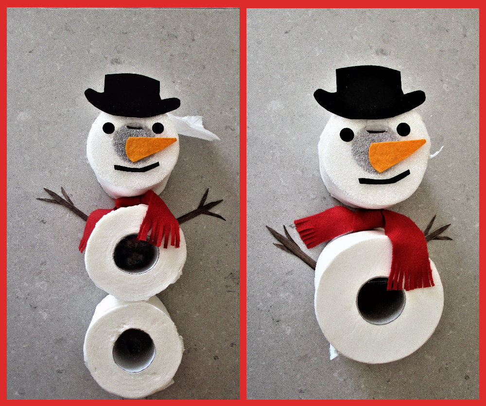 Toilet roll holder Funny handmade gift.