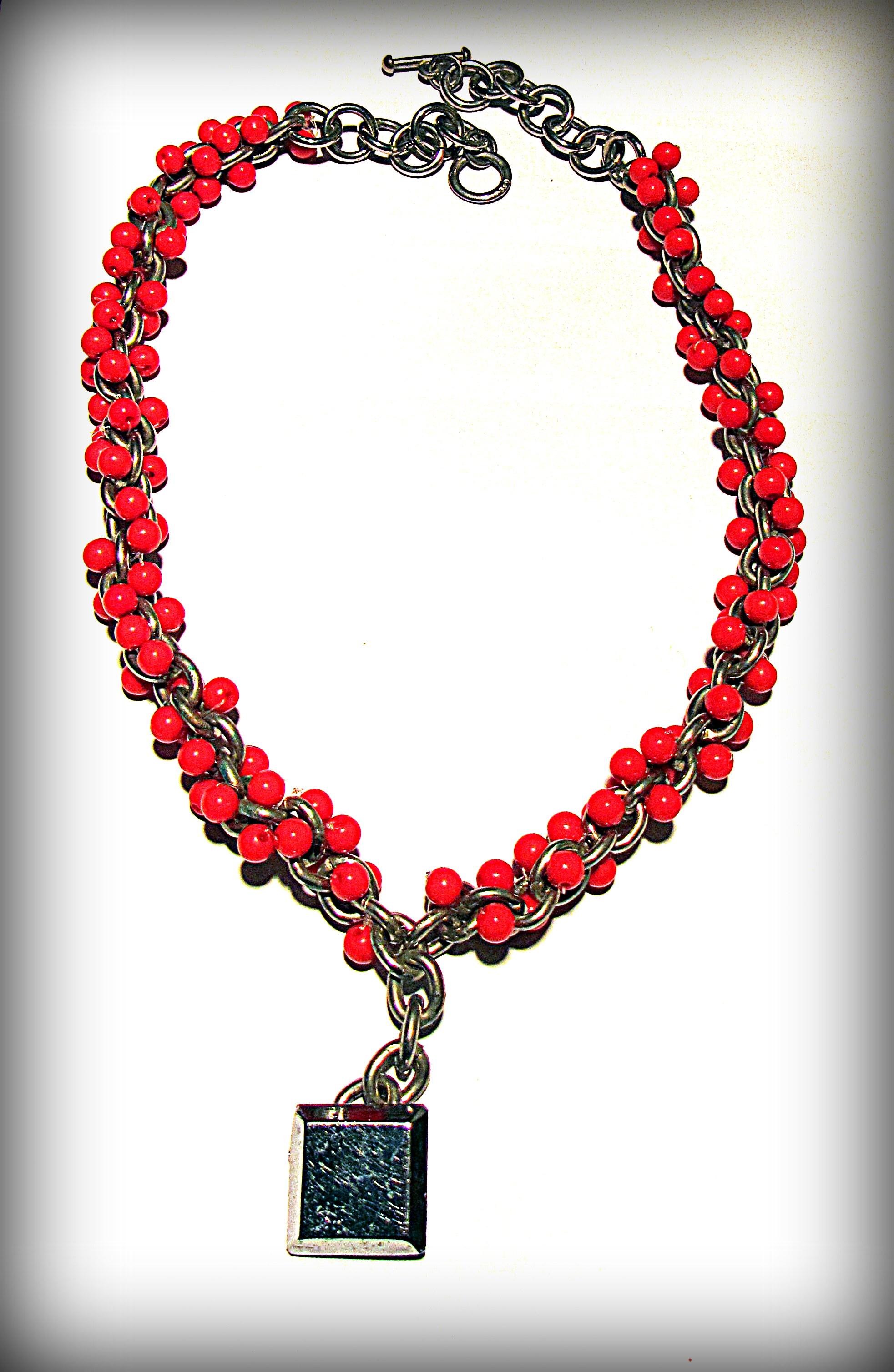 "Necklace ""Seabuckthorn"""