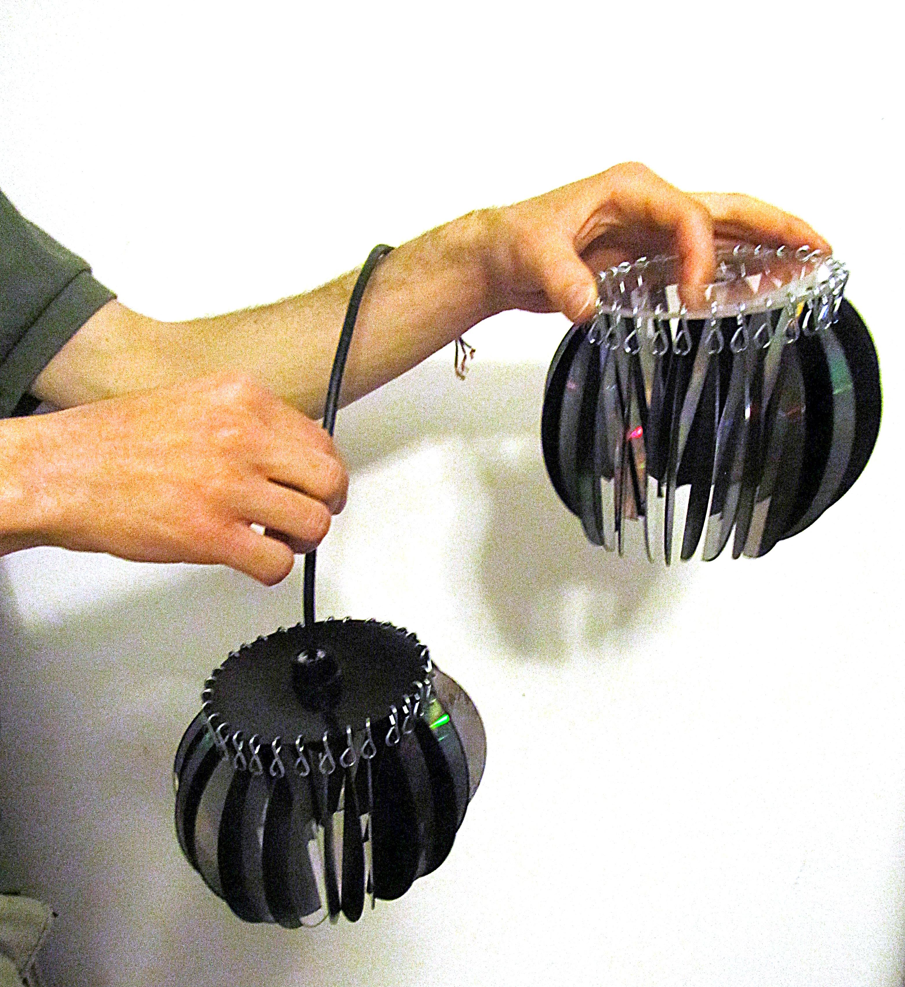 Lamp shades from computer disks