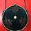 Thumbnail: Exclusive dark green round ethno style bag witha a long handle.