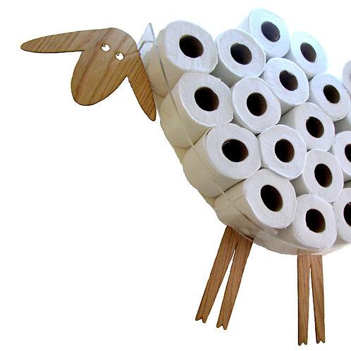 Toilet paper storage (30 rolls). Bathroom wall shelf - Funny Big sheep.