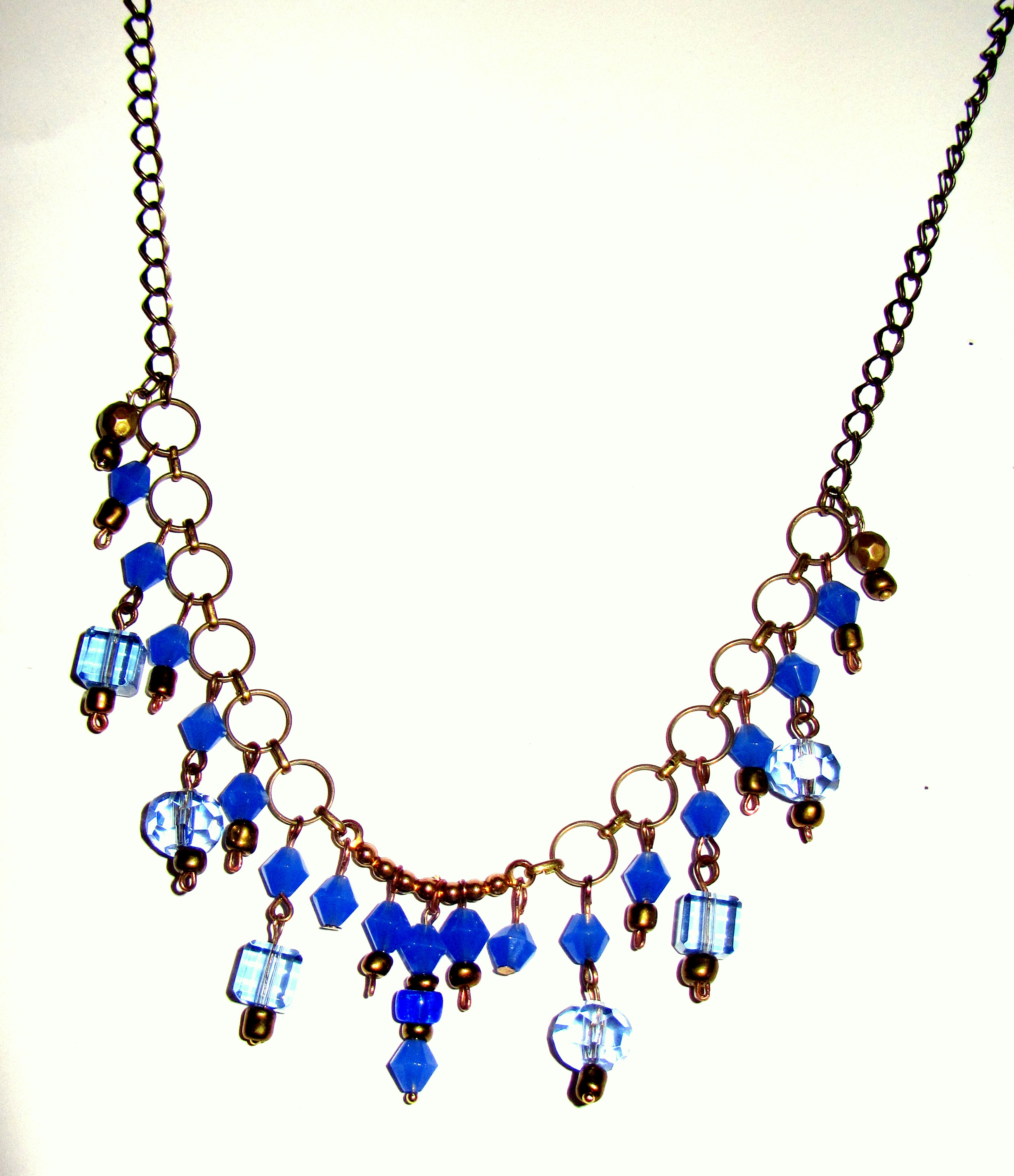 Necklace of colored glass
