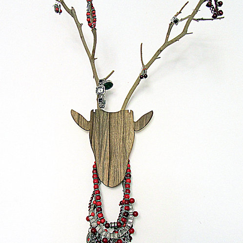 Deer - Hanger for jewelry. Antlers function as hangers for jewelry.