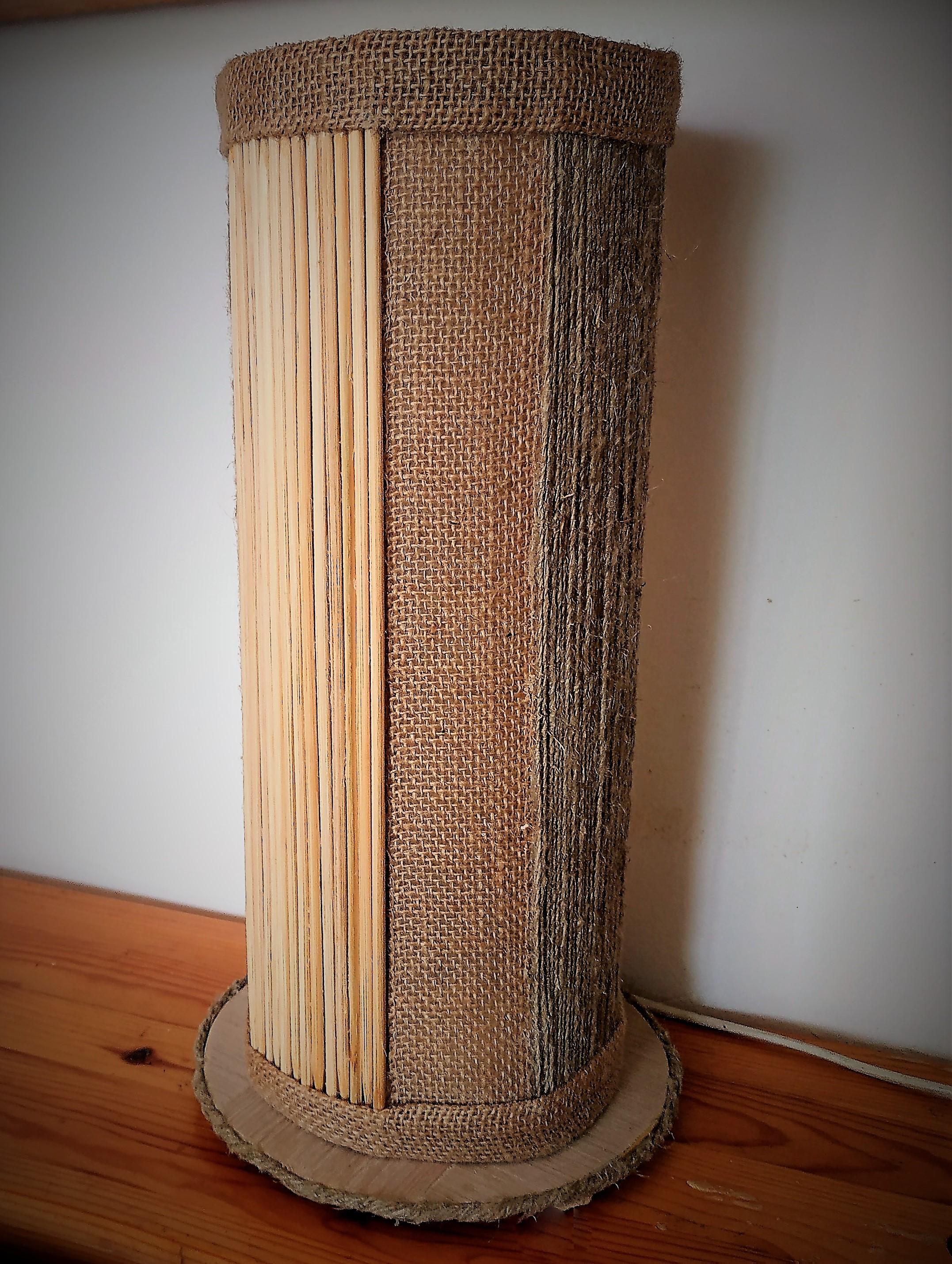 Table lamp in eco-style