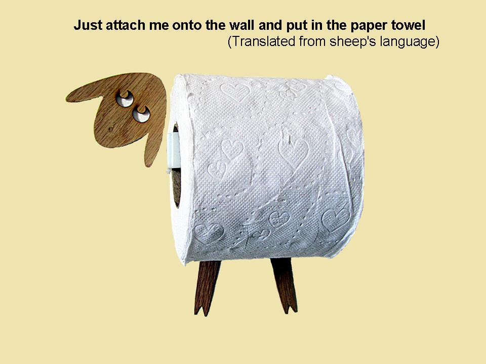 Sheep - funny toilet roll holder