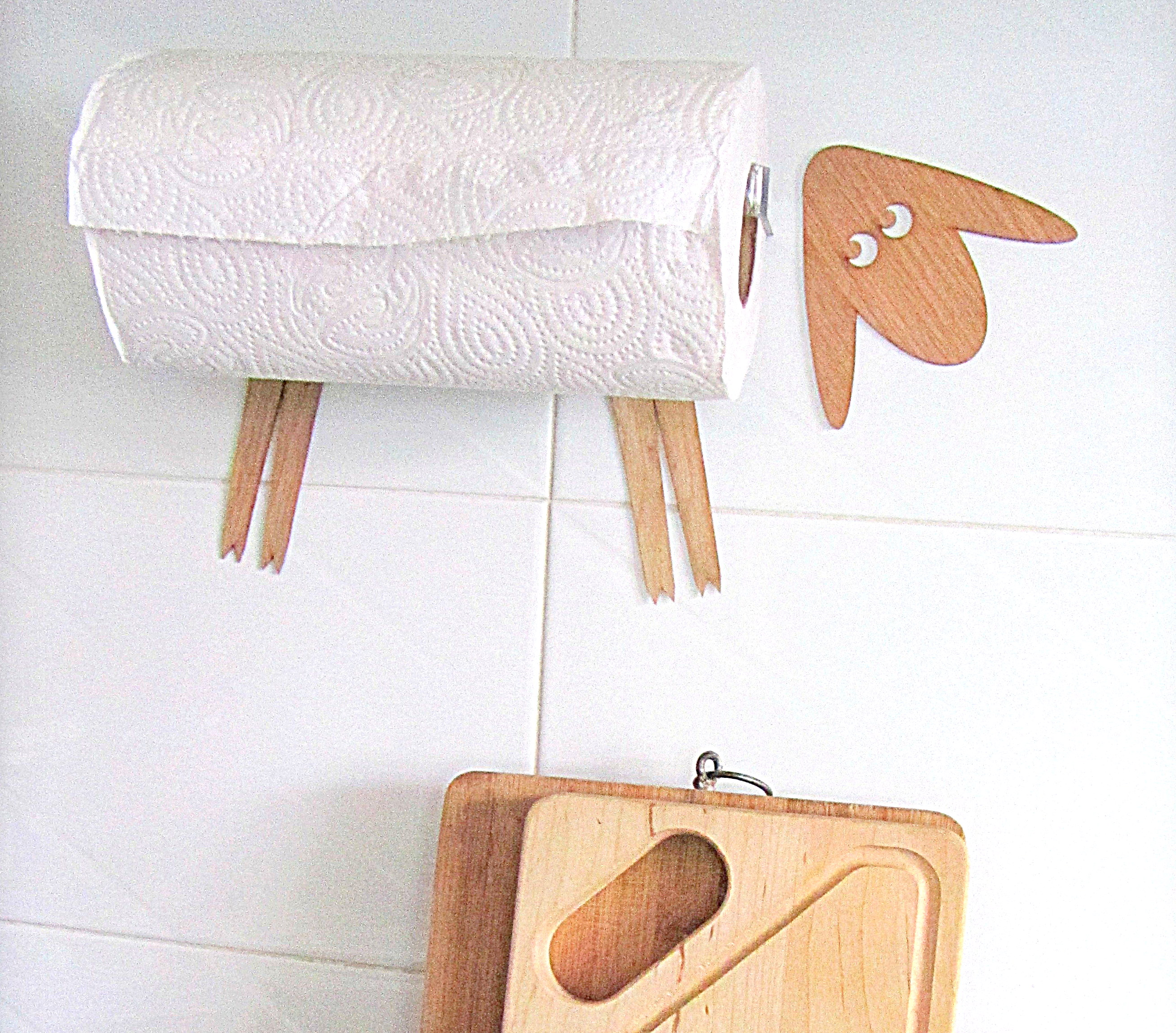 Wall mount of paper towel Sheep
