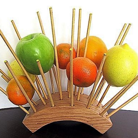 Fruit tray. Original way of serving fruits.