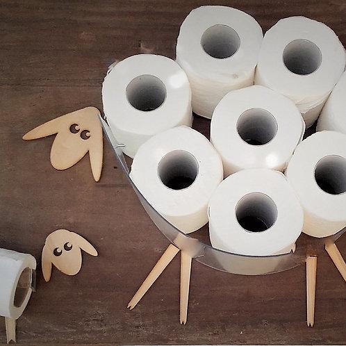 MINI Set of Bathroom - MINI Sheep and Lamb for toilet paper rolls