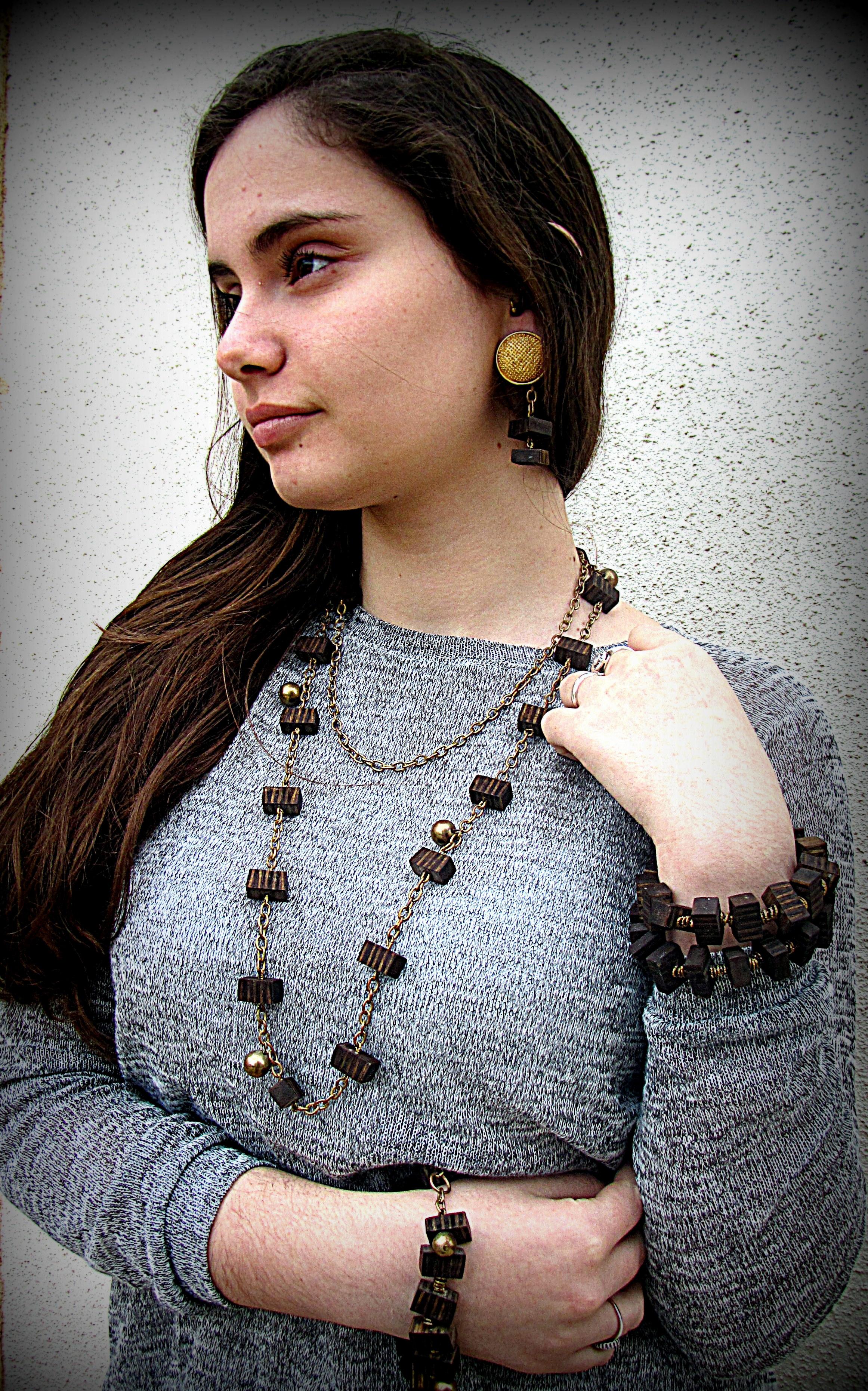 Necklace, Bracelet, Clips Earrings