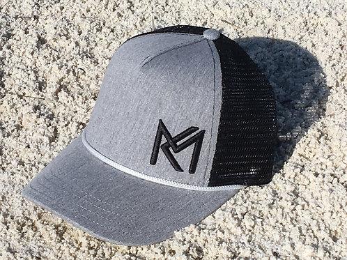 MK Trucker Ball Cap  - Heather Grey / Black Mesh