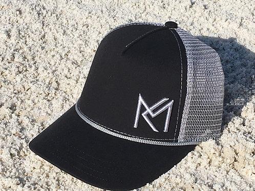 MK Trucker Ball Cap  - Black / Grey Mesh