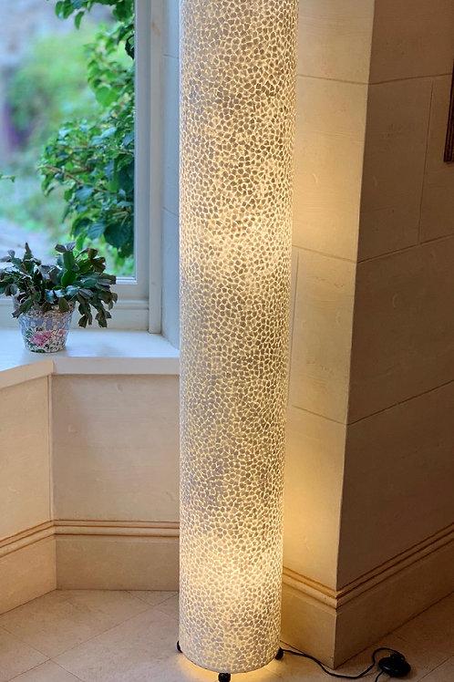 LS87 Tall Shell Cylinder Lamp Ivory 150cm H x 22cm W x 22cm D