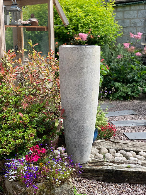 OP12 Outdoor Tall Cylinder Pot Cream 120cm