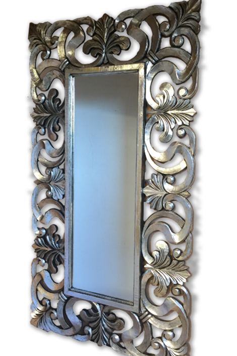 KC48 Maison XXL Silver Hand Carved Mirror 220cm x 120cm