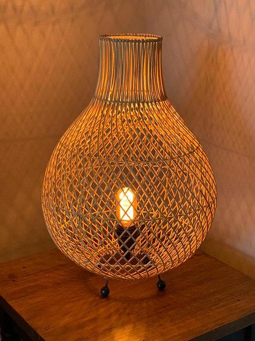 LS205 Teardrop Rattan Table Lamp 60cm