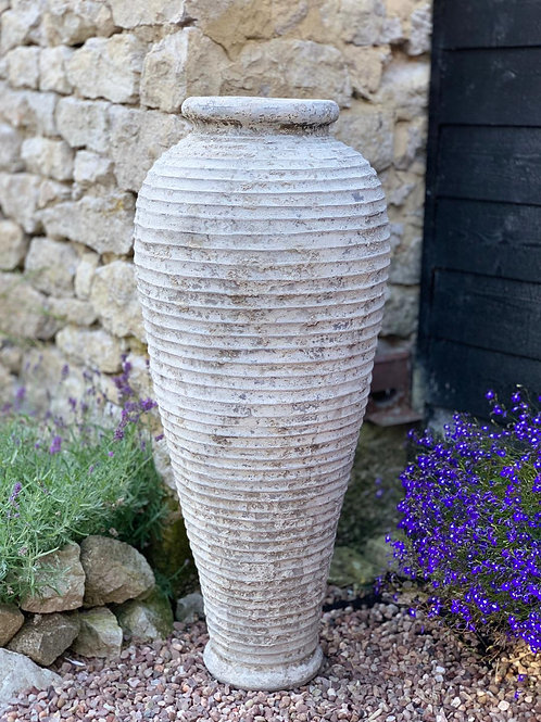 OP24 Distressed Tall Ribbed Pot 100cm
