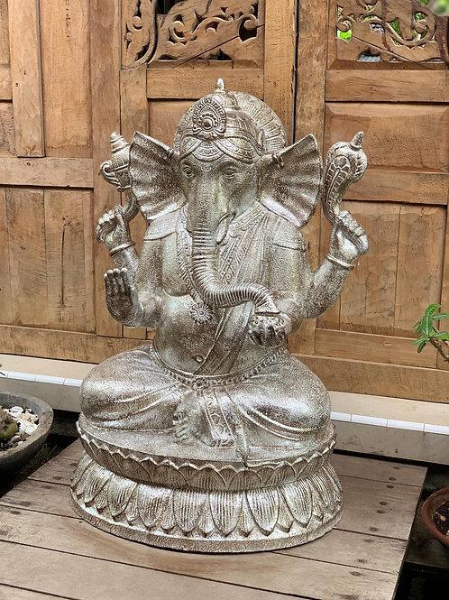 SK300 Tall Ganesha Platinum 100cm H, 80cm W, 50cm D.