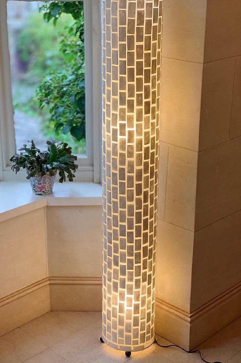 LS80 Tall Cylinder Brick Lamp Ivory 150cm