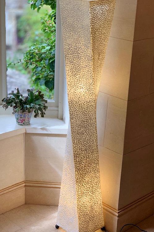 LS112 Tall Shell Ivory Twist Lamp 150cm