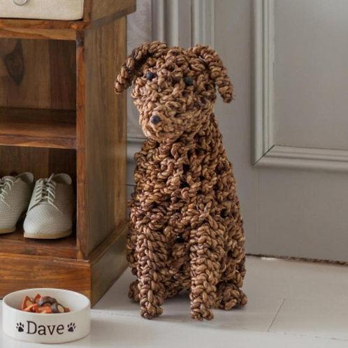 SK54 Seagrass Noodle Dog  53cm H x 35cm W x 24cm D