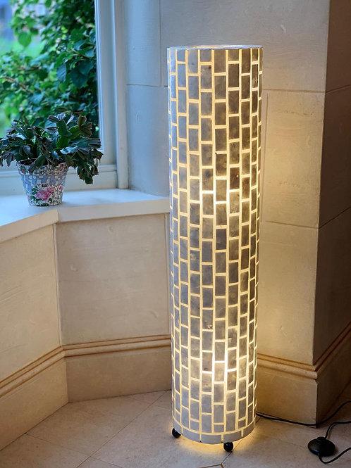 LS81 Cylinder Brick Lamp Ivory 100cm