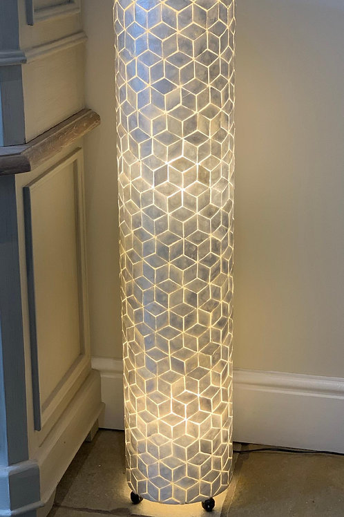 LS308 Shell Abstract Lamp Ivory 100cm