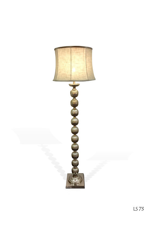 LS73 Antique Ball Floor Lamp with Shade H: 160cm