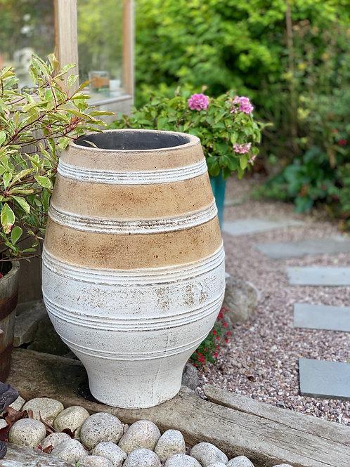 OP20 Terracotta Stripe Olive Pot 80cm