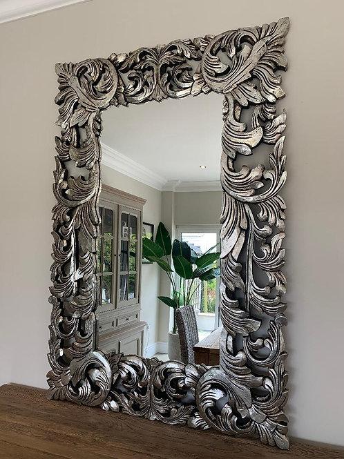KC05 Silver Renaissance Hand Carved Mirror 150cm x 100cm