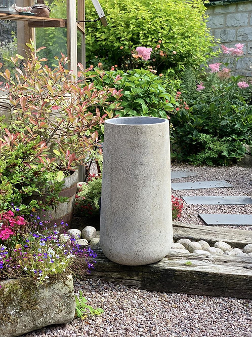 OP14 Outdoor Open Mouth Pot Grey 77cm H x 40cm W x 40cm D