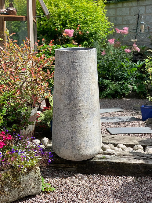 OP15 Outdoor Open Mouth Pot Grey 108cm H x 55cm W x 55cm D