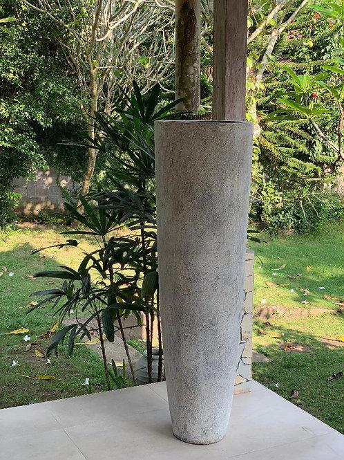OP11 Outdoor Tall Cylinder Pot Cream 155cm