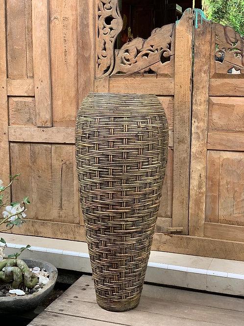 POT111 Tall Bamboo Natural Pot 110cm