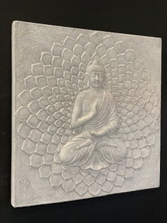 JD33 Whitewash Budha Plaque