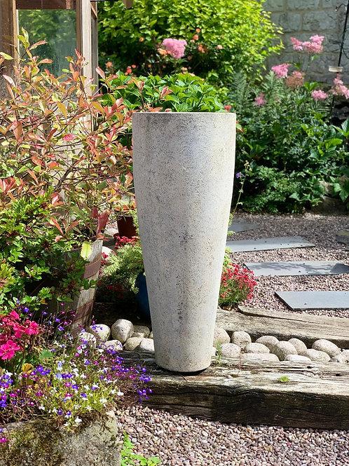 OP13 Outdoor Tall Cylinder Pot Cream 90cm