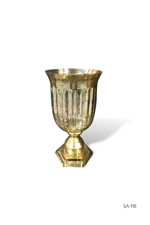 SA116 Gold Mercury Trophy Vase Small 32cm H, 16cm Diam.