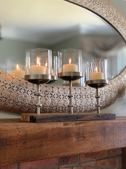 SA07 Rise And Fall 3 Candle Holder  33cm H x 47cm W x 13cm D