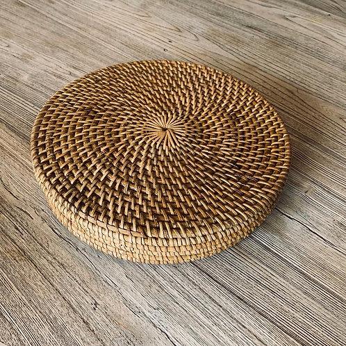 SK22 Rattan Round Placemat Dia: 25cm (Set of 6)