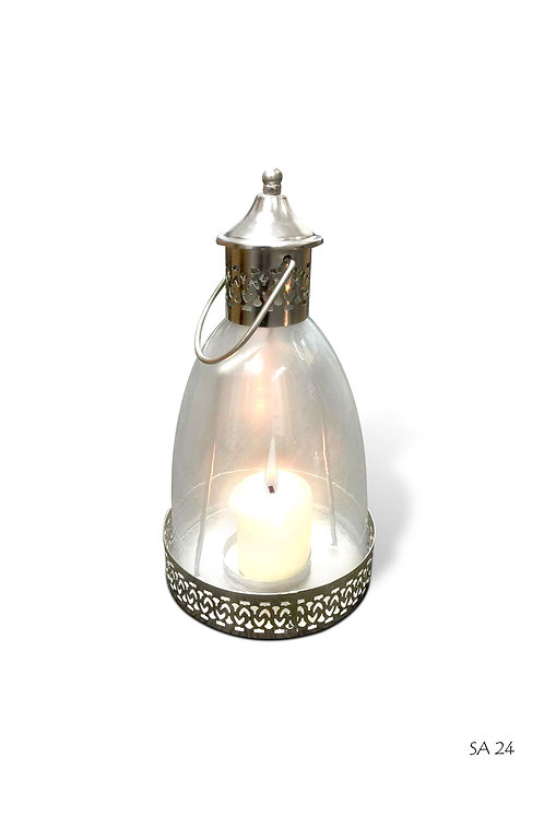 SA24 Round Glass Dome Lantern 37 h, 19cm diam.