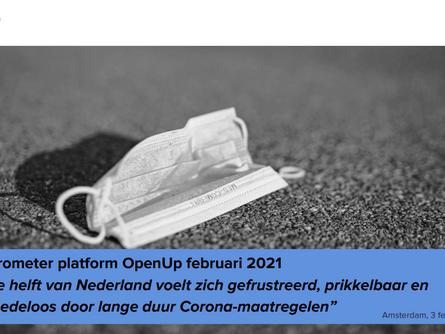 Februari 2021 | Nederland voelt zich gefrustreerd, prikkelbaar en moedeloos