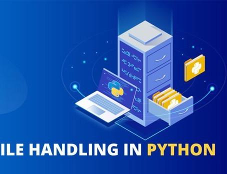 Python File handling - My 4th week of learning python by Nishant Kalanta