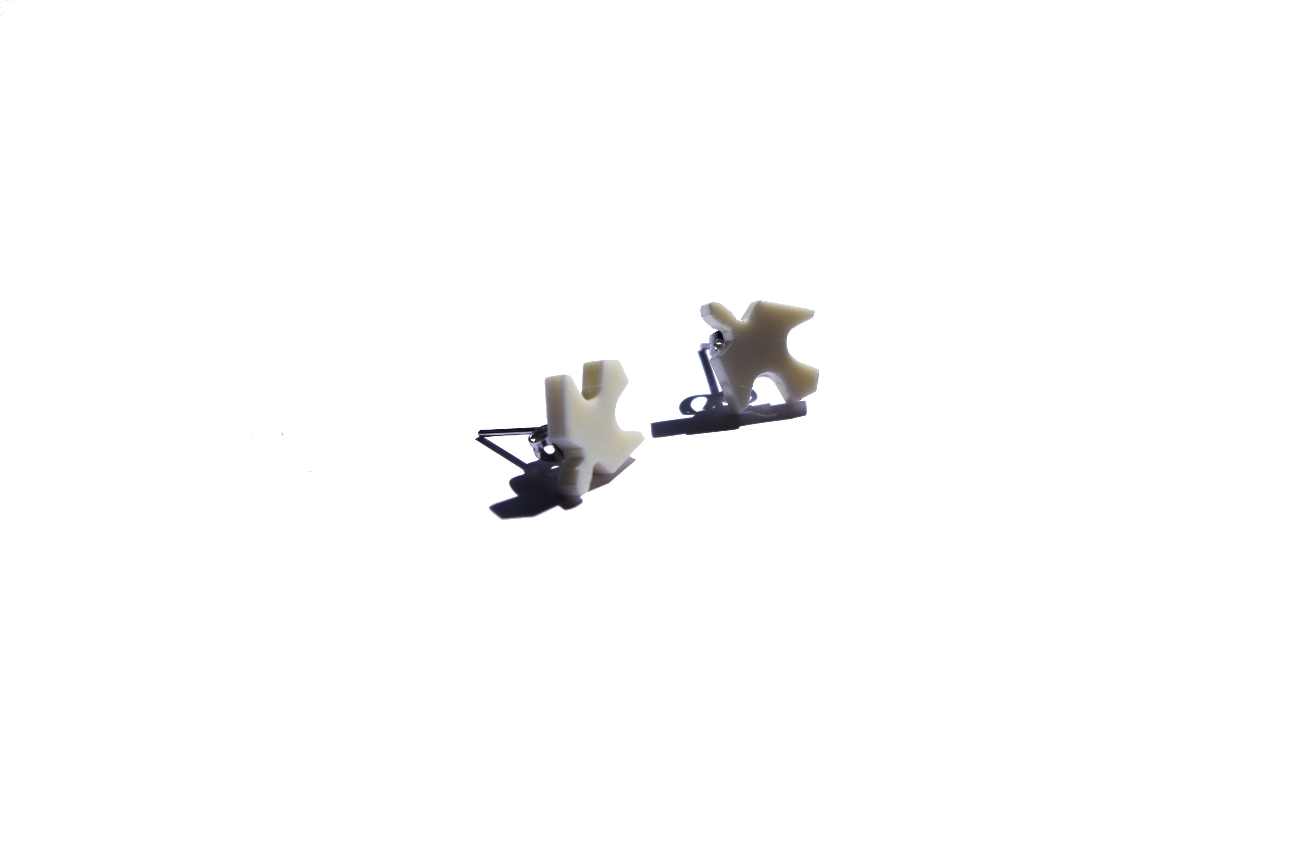 Boucle d'oreilles Colombe blanche