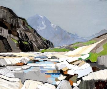 Torrent des Glaciers s  2009 100x120 cm.