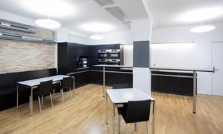Reorganisation Cafeteria, Einbau Nasszellen