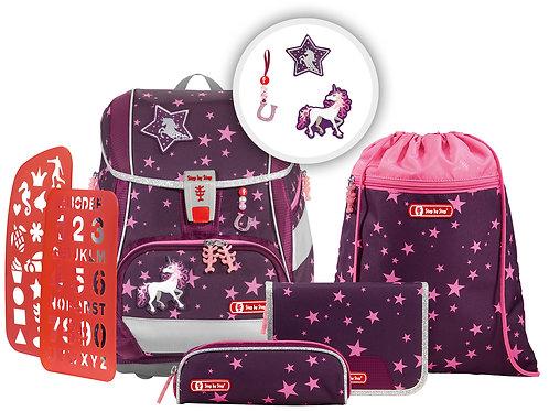 """2IN1 PLUS Schultaschen-Set """"Unicorn"""", 6-teilig"""